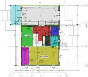12 - План этажа - План 1 этажа на отм- +0-000