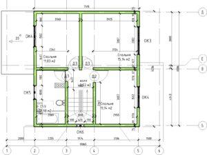 12 - План этажа - План 2 этажа на отм-+2-974